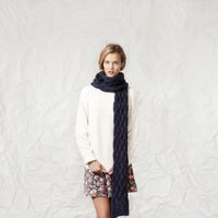 Jersey y falda de la línea Grey Flowers de la colección otoño/invierno 2013/2014 de Springfield