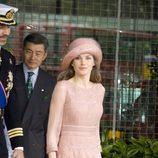 La Princesa Letizia vestida de Felipe Varela en la boda de Guillermo de Inglaterra y Kate Middleton