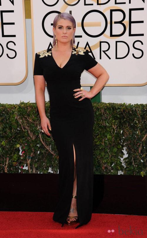 Kelly Osbourne con un vestido de Escada en la alfombra roja de los Globos de Oro 2014