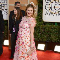 Drew Barrymore de Monique L'huilier en la alfombra roja de los Globos de Oro 2014