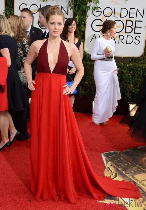 Amy Adams con un vestido de Valentino Couture en la alfombra roja de los Globos de Oro 2014