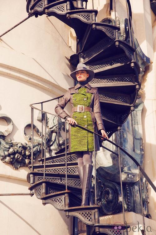 Abrigo de la colección invierno 2014 de Laura Bernal