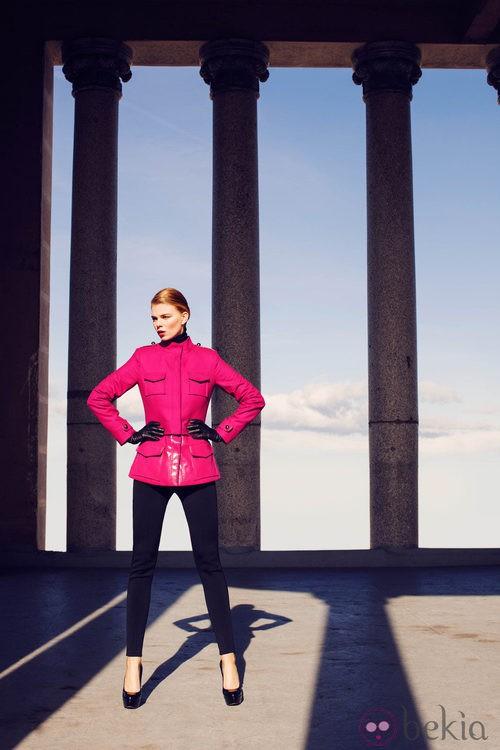 Abrigo corto de la colección invierno 2014 de Laura Bernal
