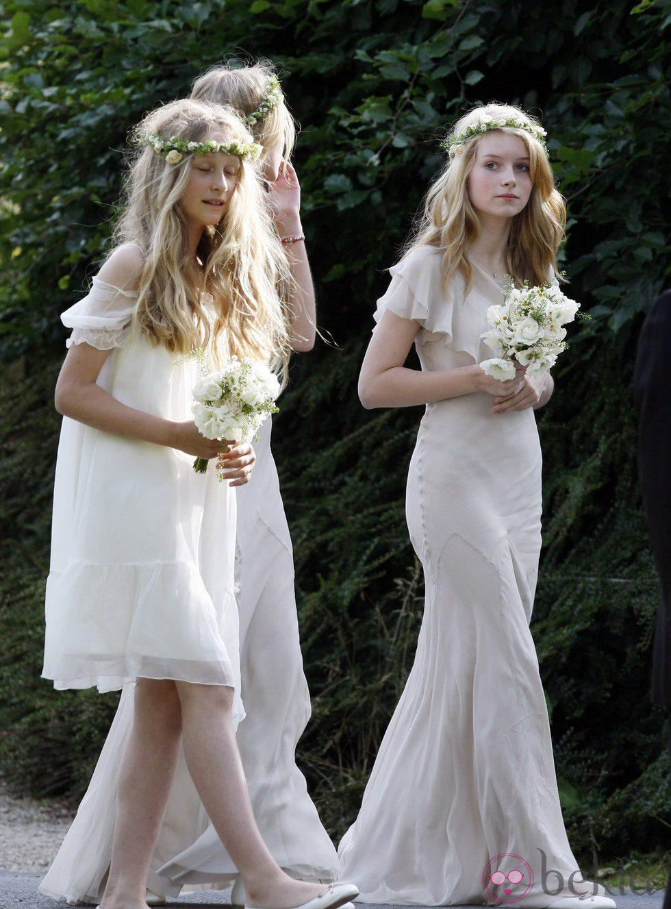 Lottie Moss en la boda de su hermana Kate Moss con Jamie Hince