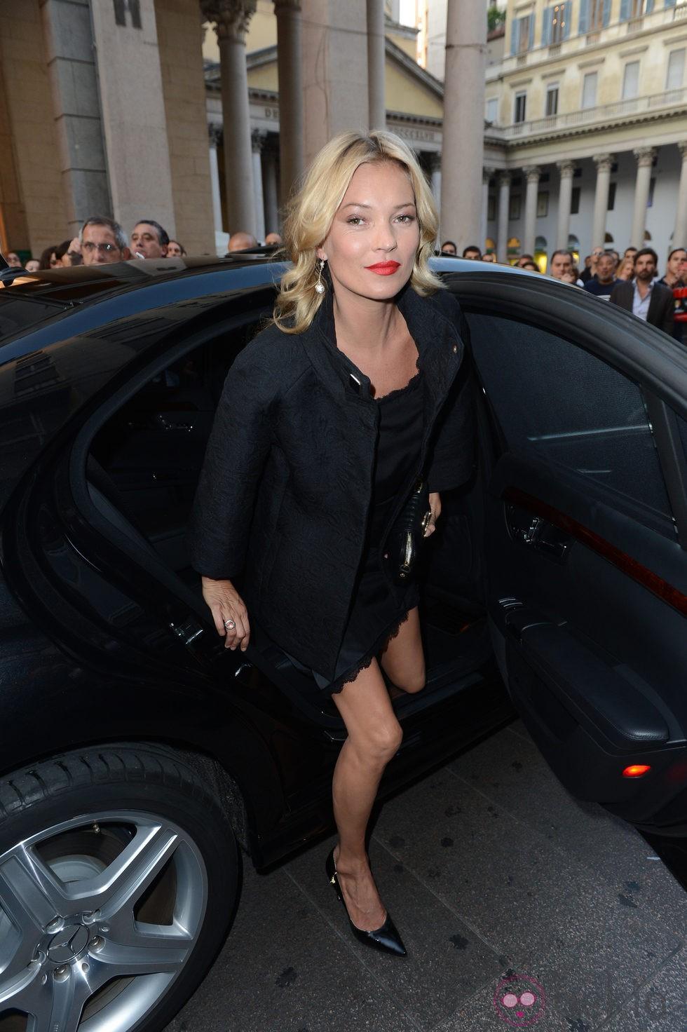 Kate Moss en la Semana de la Moda de Milán primavera/verano 2013