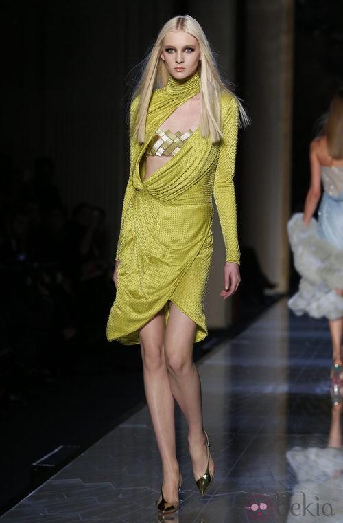 Vestido verde de la colección primavera/verano 2014 de Atelier Versace