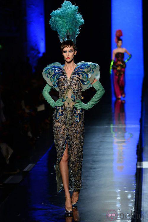 Vestido de la colección primavera/verano 2014 de Jean Paul Gaultier en la Semana de la Moda de París