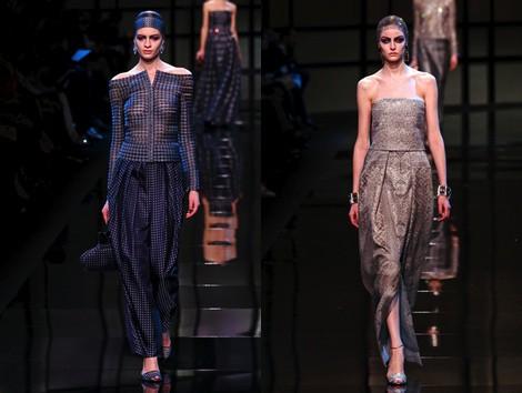Look de la colección primavera/verano 2014 Alta Costura de Giorgio Armani Privé en la Semana de la Moda de París
