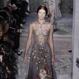 Vestido 'El Jardín del Edén' de la colección primavera/verano 2014 Alta Costura de Valentino en la Semana de la Moda de París
