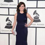 Martina McBride con un vestido de David Meister en la alfombra roja de los Premios Grammy 2014