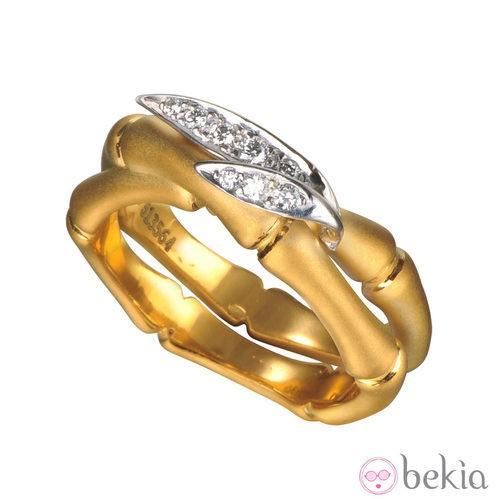 Anillo de oro de la colección 'Bambú' de Carrera y Carrera