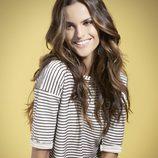 Izabel Goulart con una camiseta navy de la colección primavera/verano 2014 de Suiteblanco