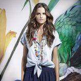 Izabel Goulart con un look de la colección 'Izabel' primavera/verano 2014 de Suiteblanco