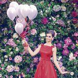 Norma Ruiz con un vestido rojo de la colección primavera/verano 2014 de Barbarella