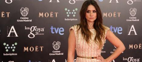 María Botto con un vestido de Thename en la alfombra roja de los Goya 2014
