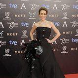 Silvia Abascal con un vestido de Stephanne Rolland en la alfombra roja de los Goya 2014