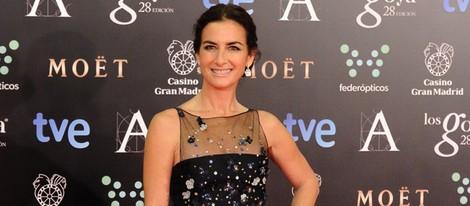 Belén López con un vestido de Óscar de la Renta en la alfombra roja de los Goya 2014