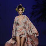 Vestido estampado de la colección otoño/invierno 2014/2015 de Francis Montesinos en Madrid Fashion Week