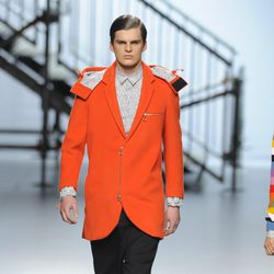 Look masculino de la colección otoño/invierno 2014/2015 de Davidelfin en Madrid Fashion Week