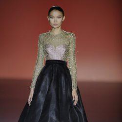 Vestido dos piezas de la colección otoño/invierno 2014/2015 de Hannibal Laguna en Madrid Fashion Week
