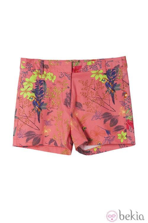 Shorts color coral de la colección primavera/verano 2014 de Lavand