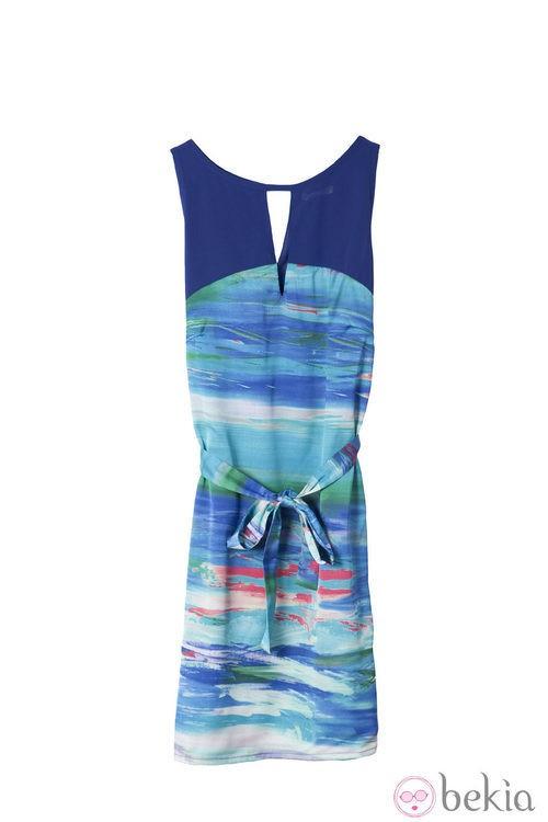 Vestido azul de la colección primavera/verano 2014 de Lavand
