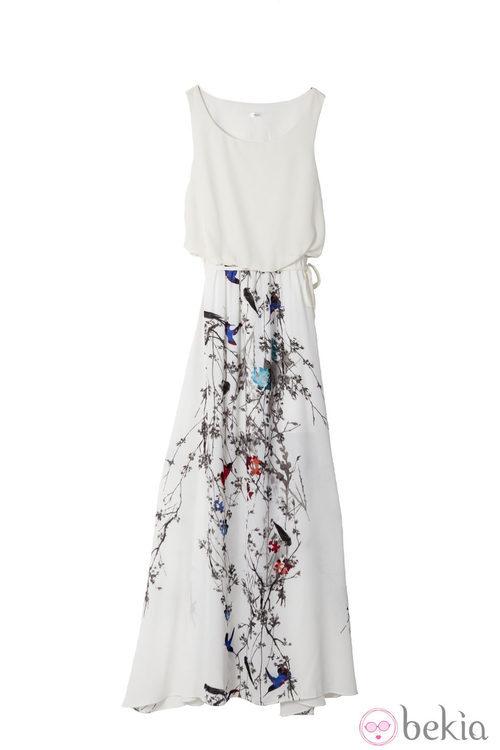 Vestido largo de la colección primavera/verano 2014 de Lavand