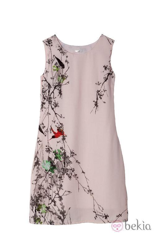 Vestido rosa empolvado de la colección primavera/verano 2014 de Lavand