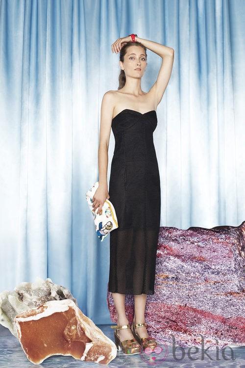 Vestido negro de la colección primavera/verano 2014 de Bimba & Lola