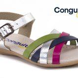 Sandalia multicolor de la colección primavera/verano 2014 de Conguitos