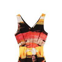 Vestido de tirantes ceñido a la cintura estampado de la colección primavera/verano 2014 Rachel Roy