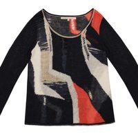 Jersey de franjas asimétricas de la colección primavera/verano 2014 de Rachel Roy
