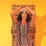 Vestido con estampado de rayas verticales de la colección primavera/verano 2014 de Smash!