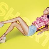 Belén Rodríguez con unas sandalias de cuña de la colección primavera/verano 2014 de Trendy Too