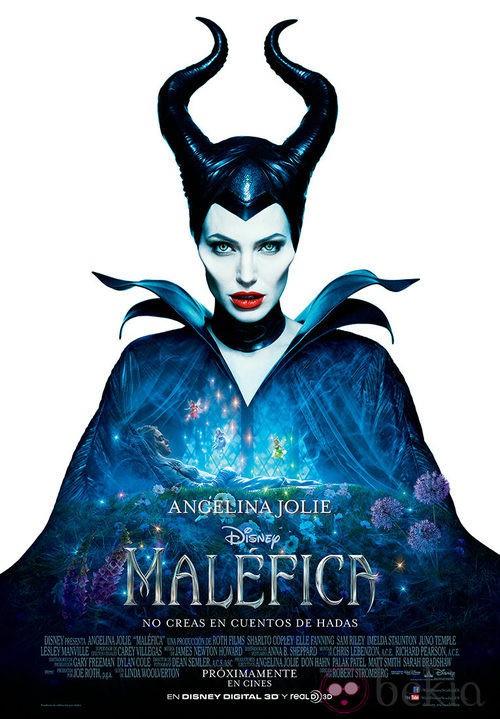 Cartel de la película 'Maléfica' con Angelina Jolie