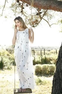 Maxi-vestido de estampado oriental de la colección primavera/verano 2014 de Indi & cold