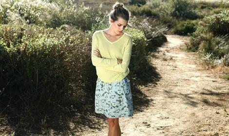 Conjunto de jersey y falda de la colección primavera/verano 2014 de Indi & cold