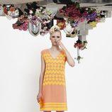 Vestido naranja y amarillo de la colección primavera/verano 2014 de VAN-DOS