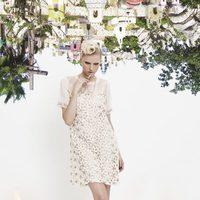 Vestido blanco de la colección primavera/verano 2014 de VAN-DOS