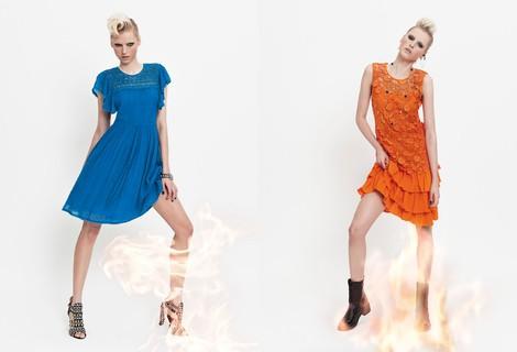 Vestido azul klein de la colección primavera/verano 2014 de VAN-DOS