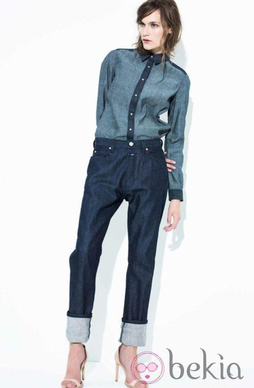 Conjunto de camisa y pantalón vaqueros de la colección primavera/verano 2014 de Closed