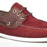 zapato naútico de caballero color granate con piel marrón de la primavera/verano 2014 de Enzo Tesoti