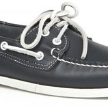 zapato naútico de caballero color azul marino de la primavera/verano 2014 de Enzo Tesoti