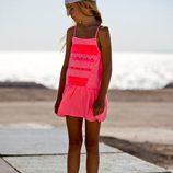 Vestido rosa flúor de la colección primavera/verano 2014 de IKKS