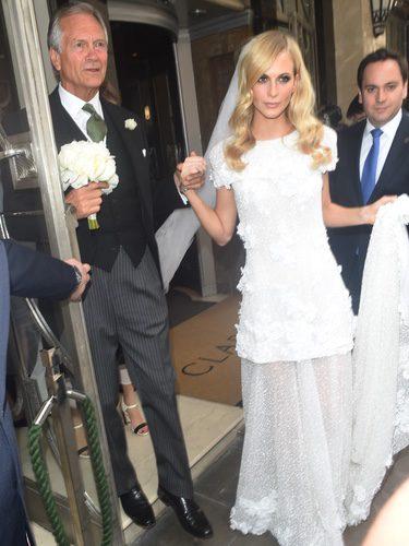 Poppy Delevingne en su boda en Londres