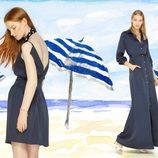 Vestido en versión corto y túnica de topos de la colección para verano 2014 de Dolores Promesas