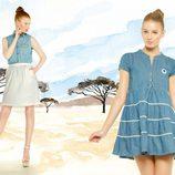 Vestido y camisa denim de la colección para verano 2014 de Dolores Promesas