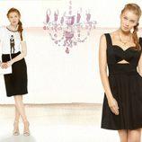 Vestido 'baby doll' negro de la colección para verano 2014 de Dolores Promesas