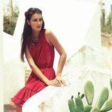 Vestido rojo con fruncidos de la colección para verano 2014 de Mismash