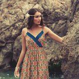 Vestido largo con estampado geométrico de la colección para verano 2014 de Mismash